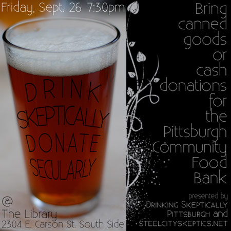 Drink Skeptically Donate Secularly