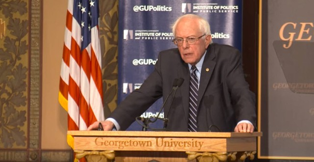 Bernie Sanders-Georgeton address