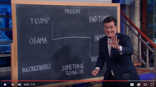 Colbert on Drumpf